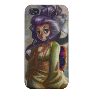Green Tea Geisha iPhone Case Covers For iPhone 4