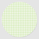 Green Tea Houndstooth Stickers