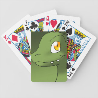 Green Tea Microraptor Bicycle Playing Cards