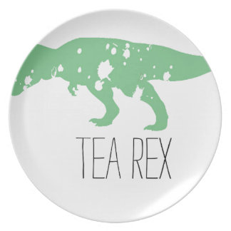 Green Tea Rex Melamine Plate