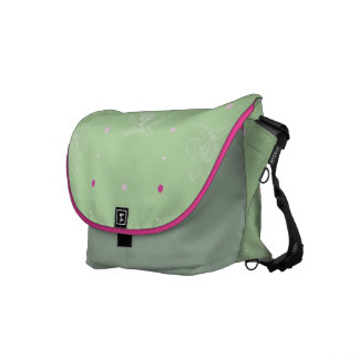 Green Tea Rose Rickshaw Messenger Bag