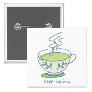 Green Tea Square Button