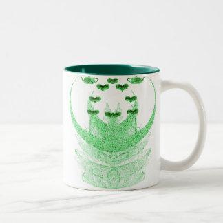 Green Tea Two-Tone Coffee Mug