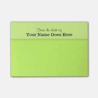 Green teachers name desk note organizer