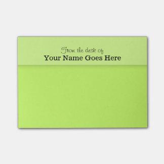 Green teachers name desk note organizer