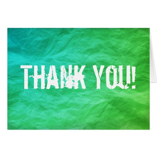 Green Amp Teal Background Thank You Card Zazzle