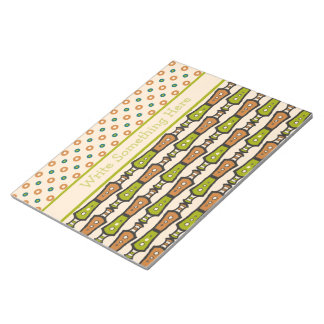Green, Teal, Black, Cream Tribal Notepad or Jotter