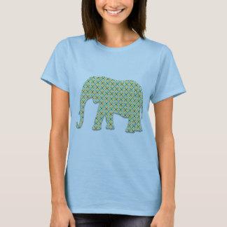 Green Teal Blue Brown Elephant Shirt