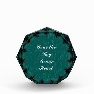 Green Teal Flower Award