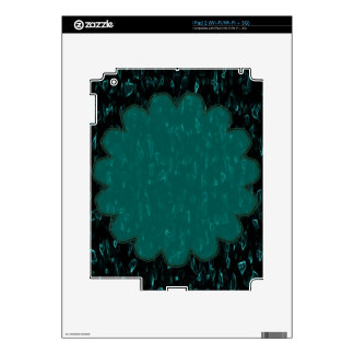 Green Teal Flower Decals For The iPad 2
