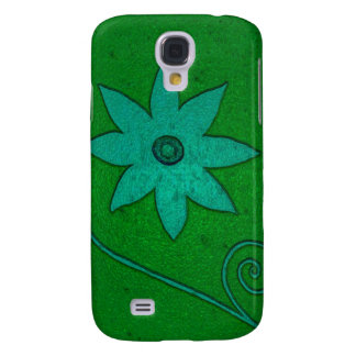 green teal flowers samsung s4 case
