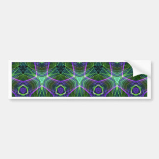 Green Teal Lavender Geometric Seamless Pattern Bumper Sticker