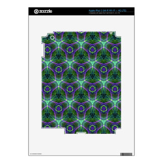 Green Teal Lavender Geometric Seamless Pattern Decal For iPad 3
