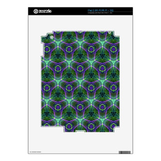 Green Teal Lavender Geometric Seamless Pattern Skins For The iPad 2