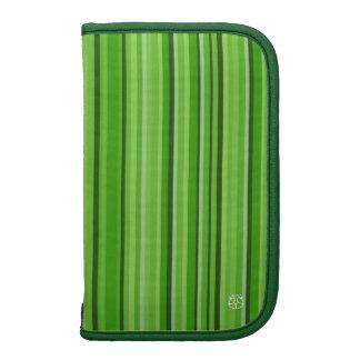 Green Teal Moblie Zip Folio Planner