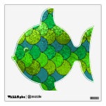 Green & Teal Scaley Fish Wall Decal