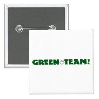 Green Team 2 Inch Square Button