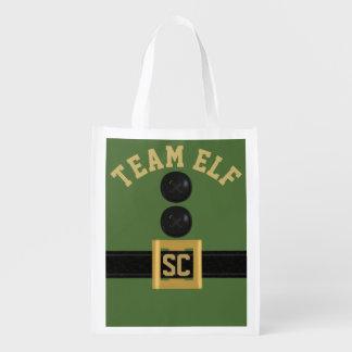 Green Team Elf Custom Reusable Grocery Bag
