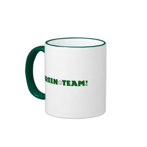 Green Team Ringer Coffee Mug