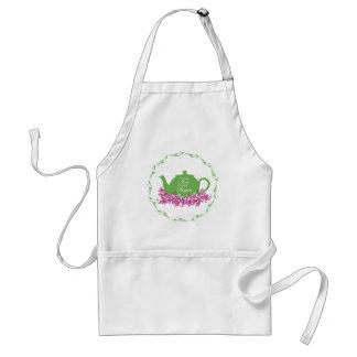 Green Teapot Tea Time Adult Apron