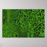 Green Techno Hiding Print