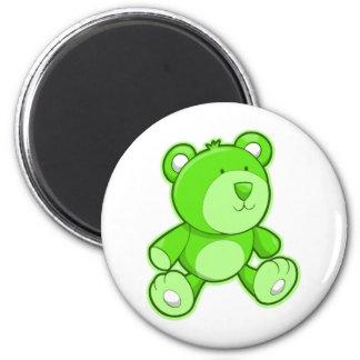 Green Teddy Bear Magnet