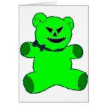 Green Teddy Cards