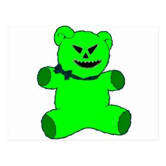 Green Teddy Postcard