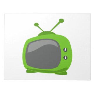 Green Television Memo Notepad