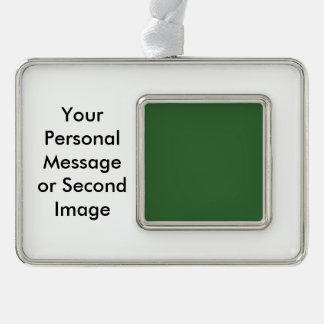 Green Template Silver Plated Framed Ornament