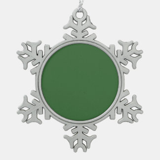 Green Template Snowflake Pewter Christmas Ornament