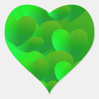 Green Tenderness Heart Stickers