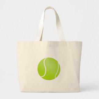 Green Tennis Ball Large Tote Bag