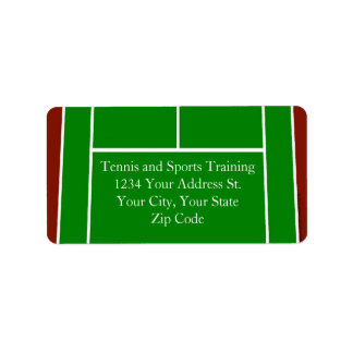 Green Tennis Court Design Personalized Address Labels