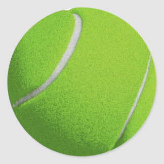 Green Tennis Round Stickers