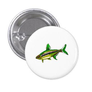 Green Tetra Fish Pinback Button