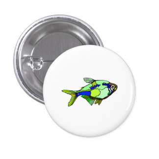 Green Tetra Fish Pin