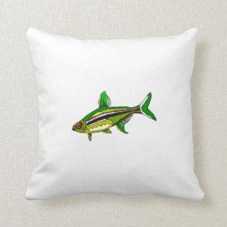 Green Tetra Fish Pillow