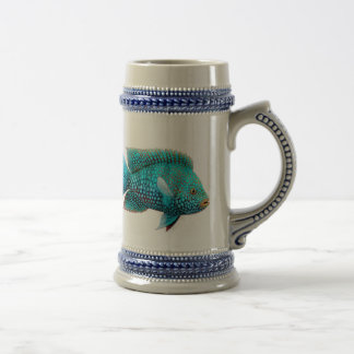 Green Texas Cichlid Beer Stein