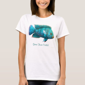Green Texas Cichlid Ladies Babydoll Tee