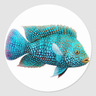 Green Texas Cichlid Sticker