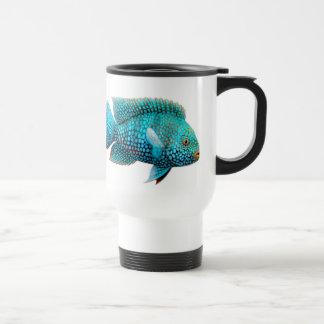 Green Texas Cichlid Travel Mug