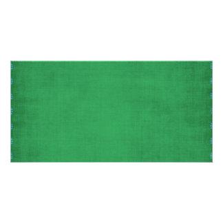 GREEN TEXTURE BLUE HEART PATTERN WALLPAPER DIGITAL CARD