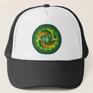 Green Texture H Trucker Hat