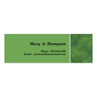Green texture side border Double-Sided mini business cards (Pack of 20)