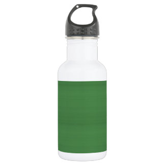 GREEN Texture Template DIY easy add TEXT PHOTO jpg Stainless Steel Water Bottle