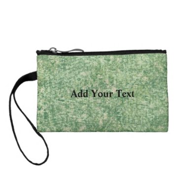 Beach Themed Green Textured Background by Shirley Taylor Change Purse