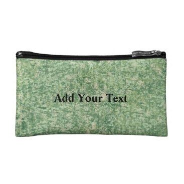 Beach Themed Green Textured Background by Shirley Taylor Cosmetic Bag