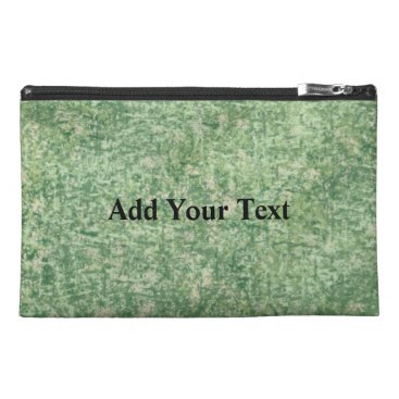 Beach Themed Green Textured Background by Shirley Taylor Travel Accessory Bag