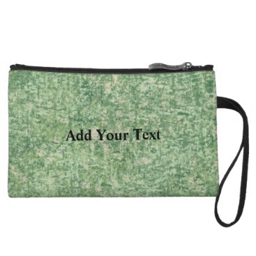 Beach Themed Green Textured Background by Shirley Taylor Wristlet Wallet